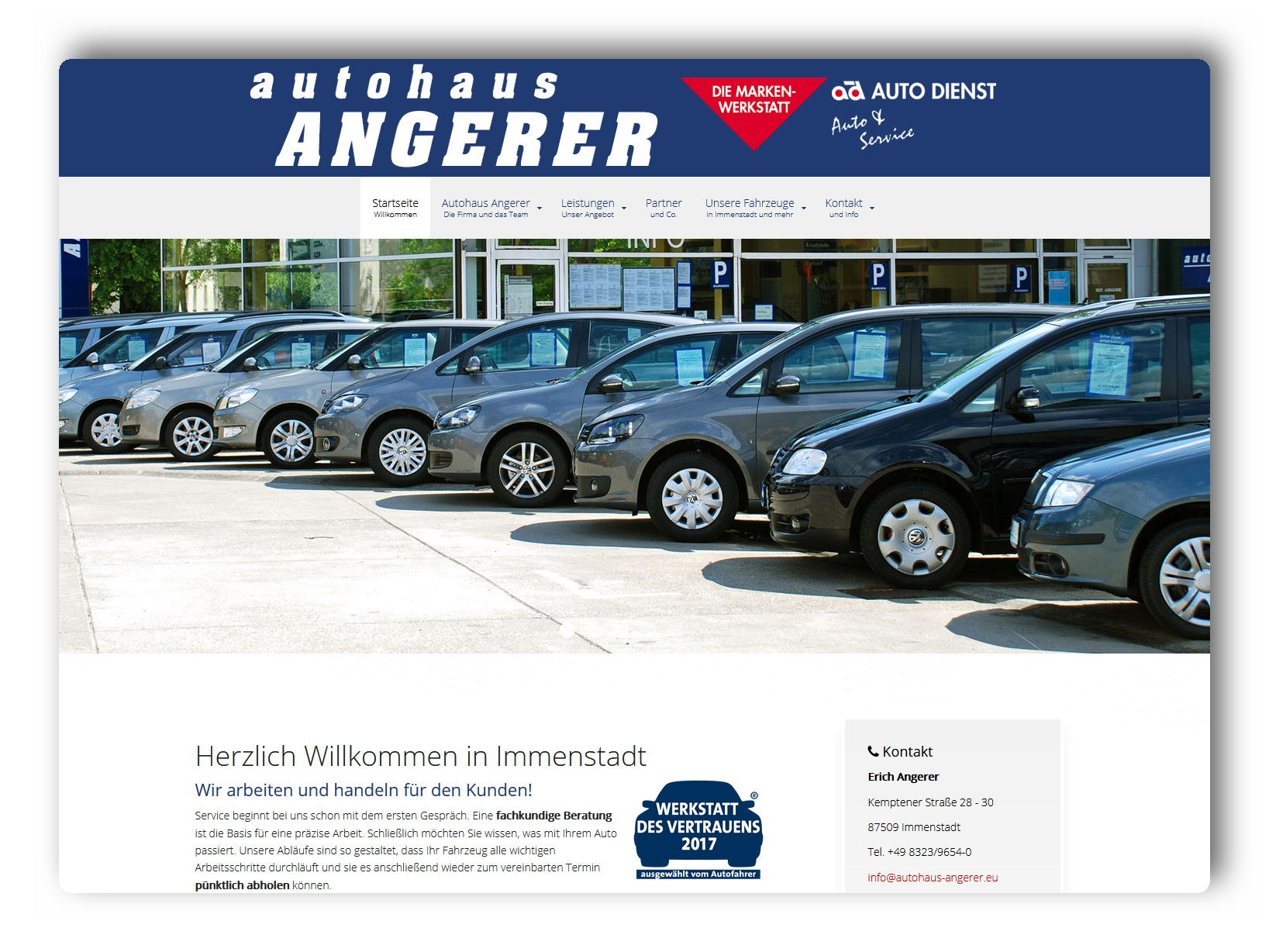 Relaunch Autohaus Angerer