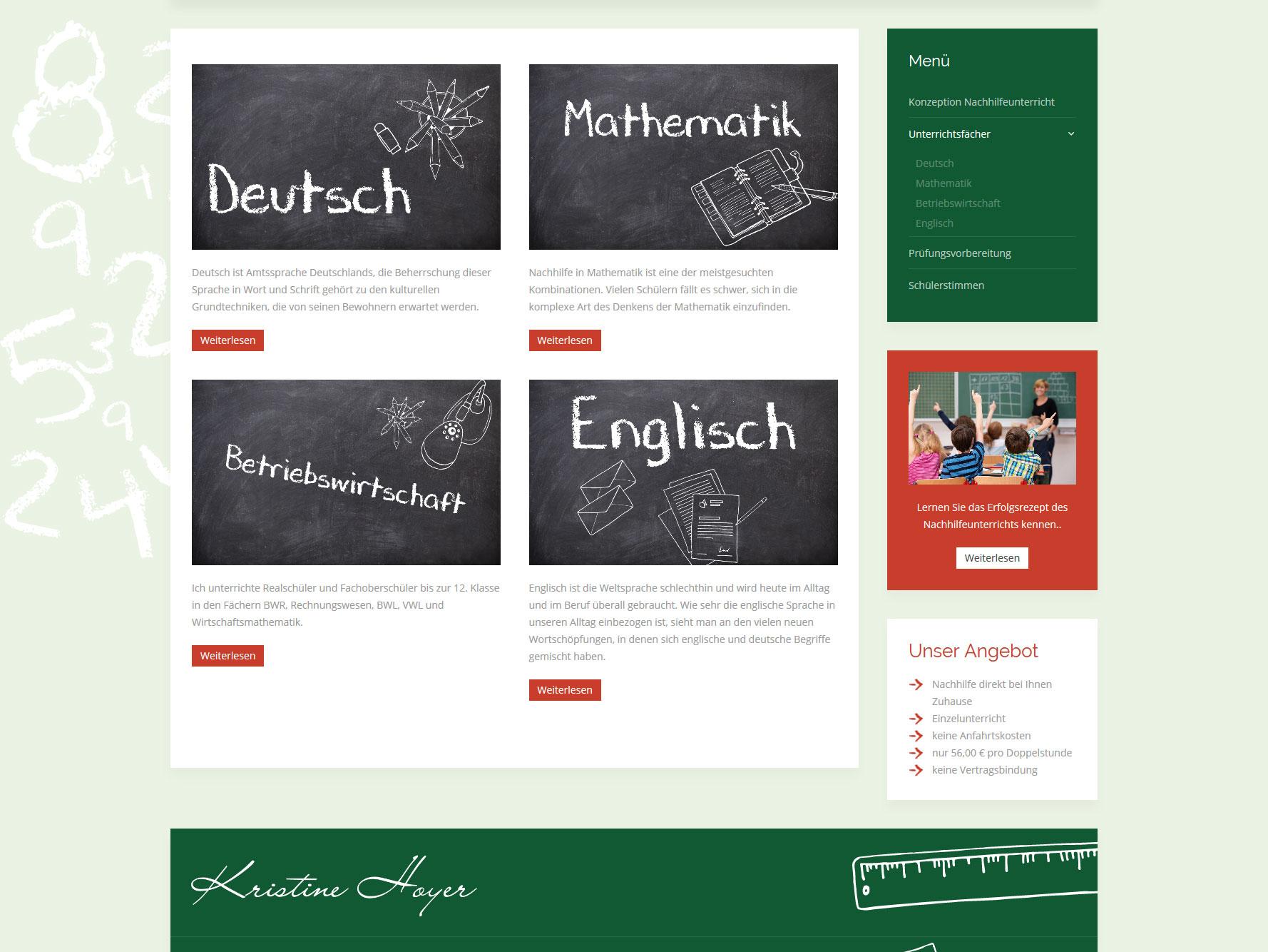 Nachhilfe Hoyer Kuschel Software Internetagentur