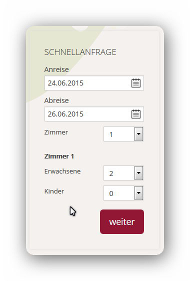Pension Stangl - Easybooking Schnellanfrage