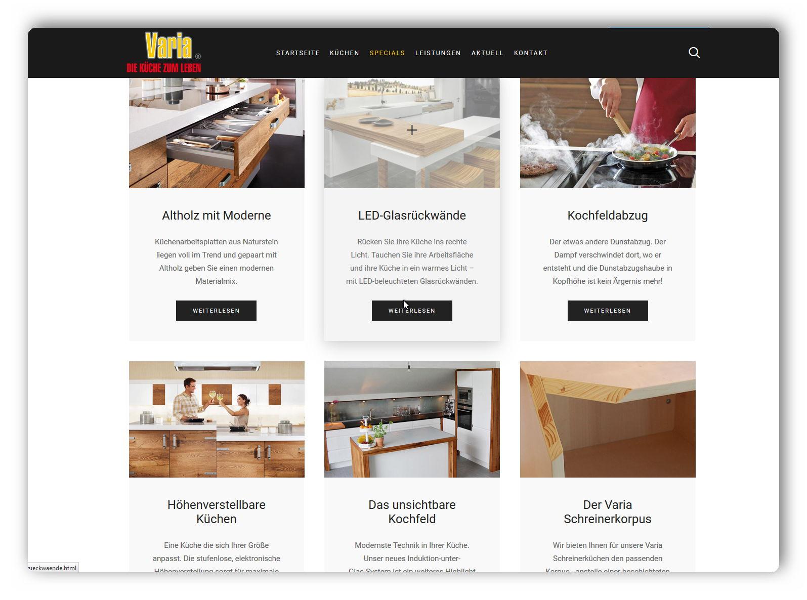 Varia Kuchen Kuschel Software Full Service Internetagentur