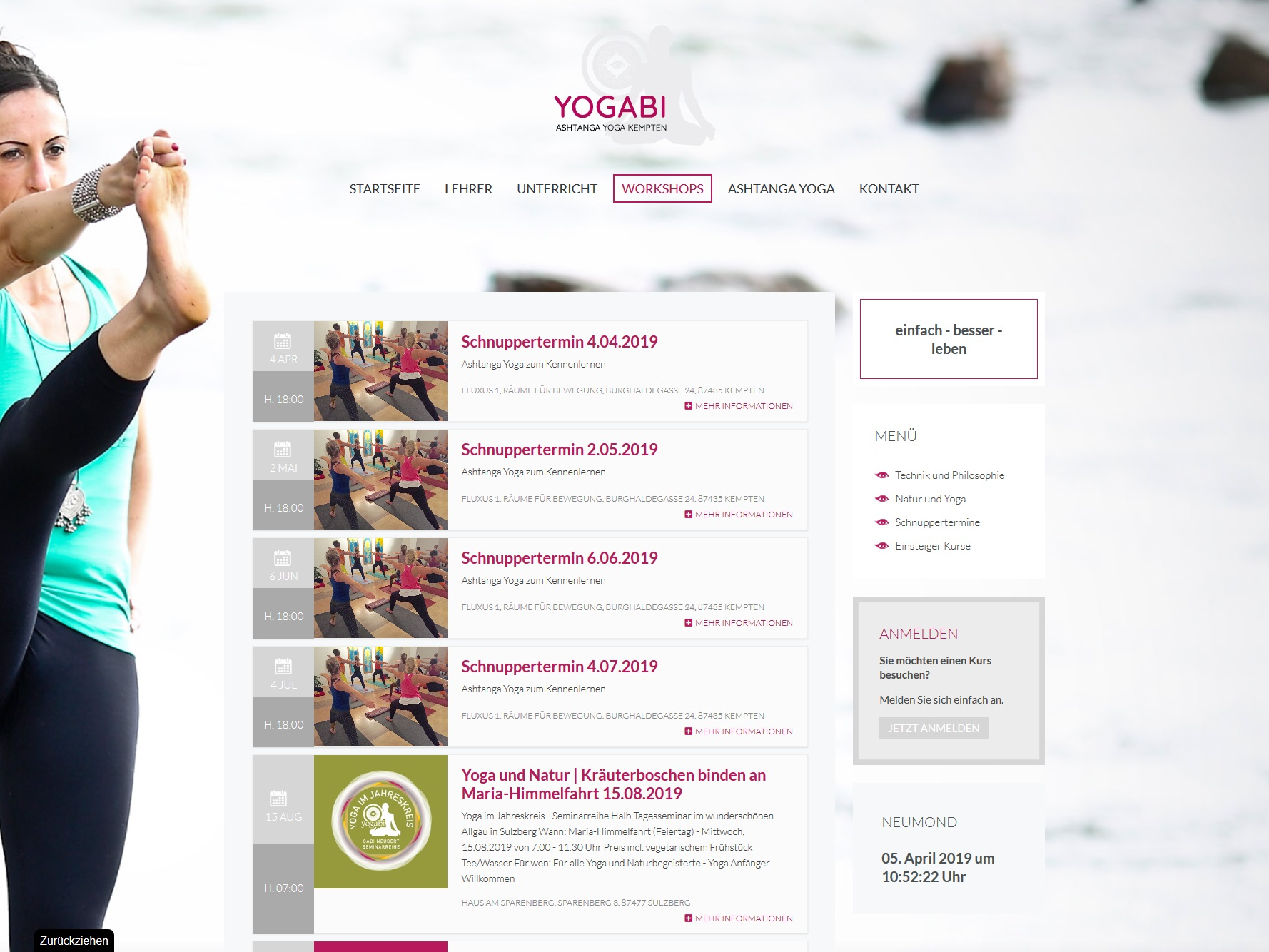 Yogabi Workshops